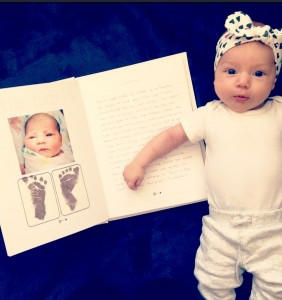 Filling out our 'Mushy Books' baby book has been one of our favourite activities.